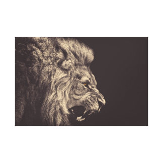 lion pencil art lion roar black and white canvas print