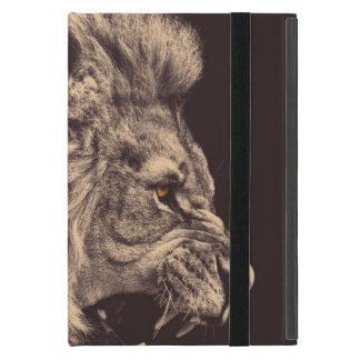 lion pencil art lion roar black and white case for iPad mini