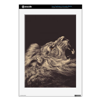 lion pencil art lion roar black and white decal for the PS3