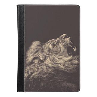 lion pencil art lion roar black and white iPad air case