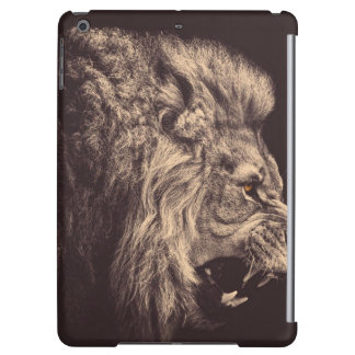 lion pencil art lion roar black and white iPad air covers
