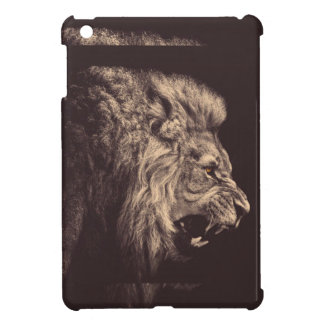 lion pencil art lion roar black and white iPad mini covers