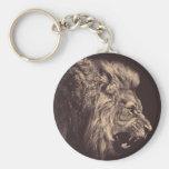 lion pencil art lion roar black and white keychain