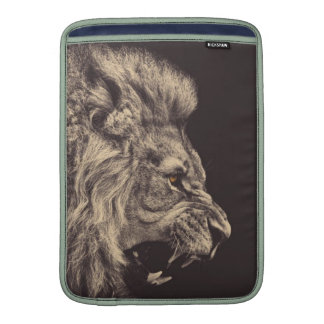 lion pencil art lion roar black and white sleeves for MacBook air