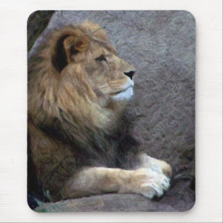 lion pencil mouse pad