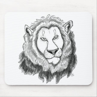 Lion Pencil Sketch Art Mousepad
