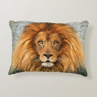 Lion Photograph Paint Art image Accent Pillow