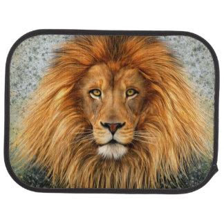 Lion Photograph Paint Art image Car Floor Mat