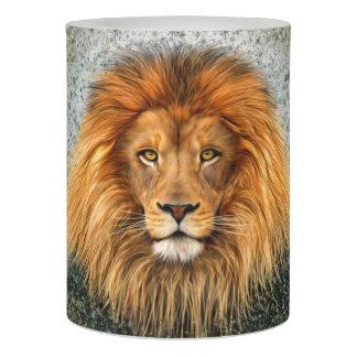 Lion Photograph Paint Art image Flameless Candle