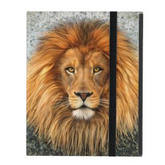Lion Photograph Paint Art image iPad Case