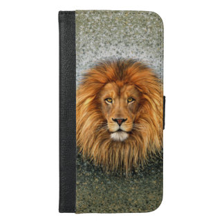 Lion Photograph Paint Art image iPhone 6/6s Plus Wallet Case