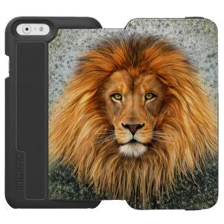 Lion Photograph Paint Art image iPhone 6/6s Wallet Case