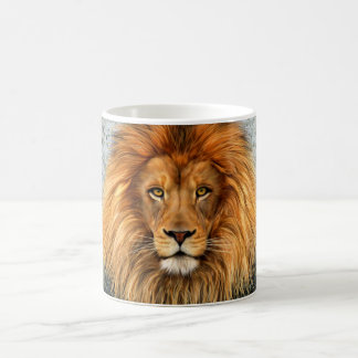 Lion Photograph Paint Art image Classic White Coffee Mug