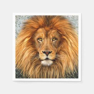 Lion Photograph Paint Art image Paper Napkin
