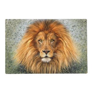 Lion Photograph Paint Art image Placemat