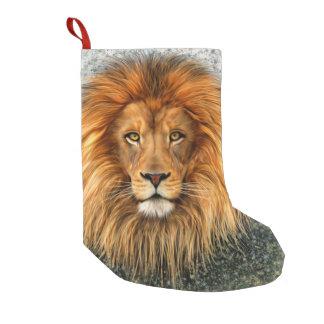 Lion Photograph Paint Art image Small Christmas Stocking