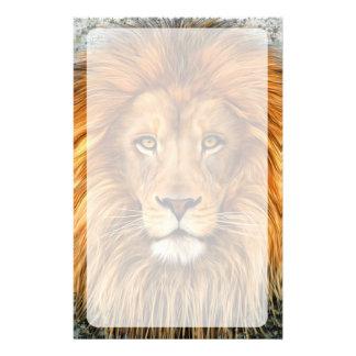 Lion Photograph Paint Art image Stationery