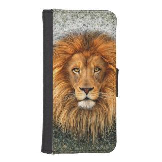 Lion Photograph Paint Art image Wallet Phone Case For iPhone SE/5/5s