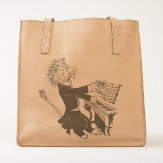Lion Pianist Antique Louis Wain Illustration Tote