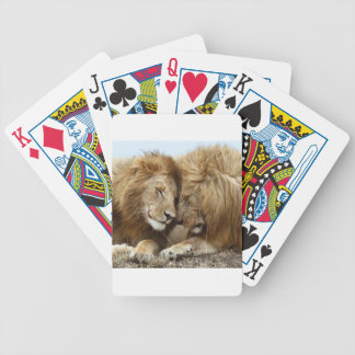 lion pic bicycle playing cards