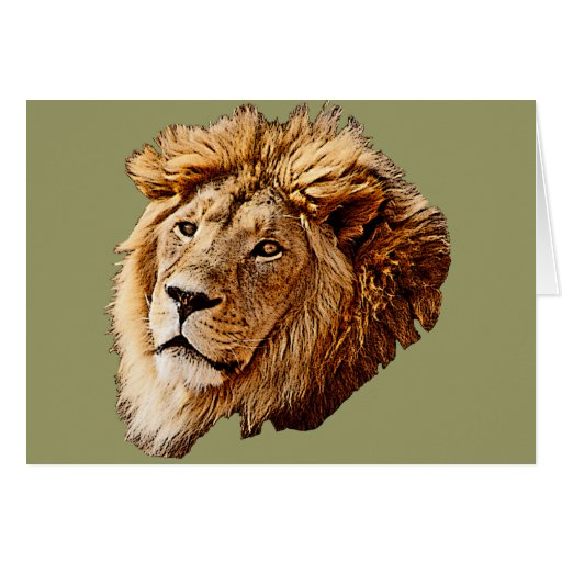 Lion Picture Greeting Card