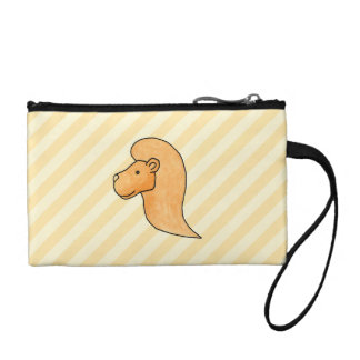 Lion Picture with Stripes. Coin Wallet