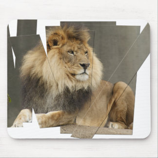 LION PIECES - PHOTO CUTUP AND REARRANGED MOUSEPAD