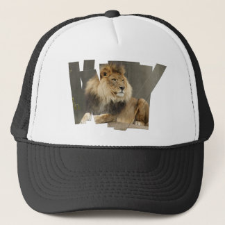 LION PIECES - PHOTO CUTUP AND REARRANGED TRUCKER HAT