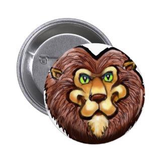 Lion Pinback Button