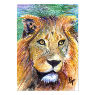 Lion Portrait ACEO Artcard Large Business Cards (Pack Of 100)