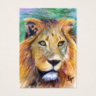 Lion Portrait ACEO Artcard Business Card
