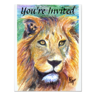 Lion Portrait ACEO Invite