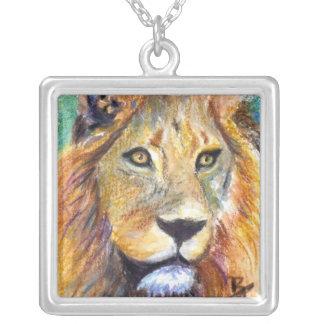 Lion Portrait ACEO Necklace