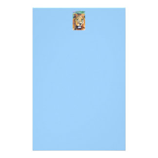 Lion Portrait ACEO Notepaper Personalized Stationery
