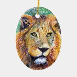 Lion Portrait aceo Ornament