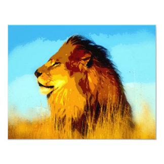 Lion Portrait Card