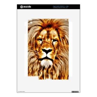 Lion Portrait Decal For iPad 2