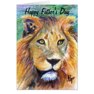 Lion Portrait Father's Day Card