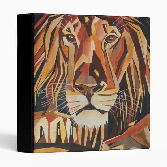 Lion Portrait in Cubist Style Binder