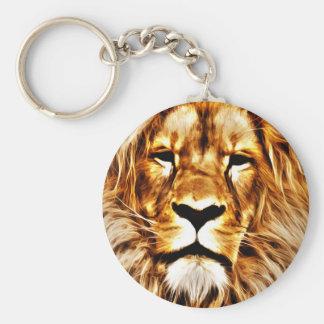 Lion Portrait Keychain