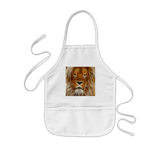 Lion Portrait Kids' Apron