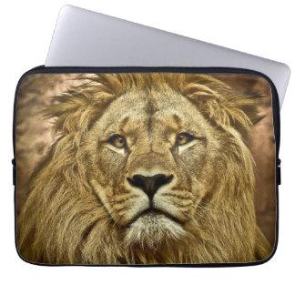 Lion portrait laptop computer sleeve