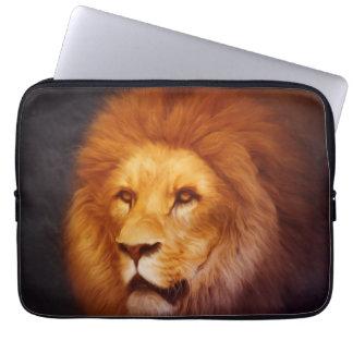 Lion portrait laptop sleeve