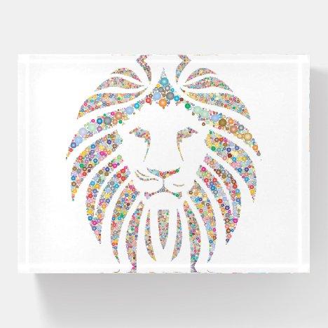 Lion Portrait Paperweight