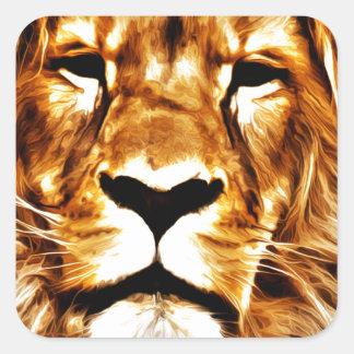 Lion Portrait Square Sticker