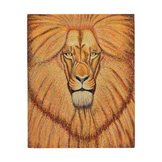 Lion Portrait Wood Wall Decor