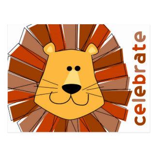 Lion Post Card Invitation