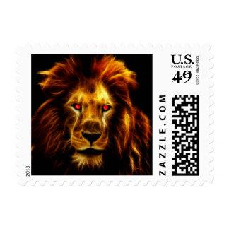 Lion Postage Stamp