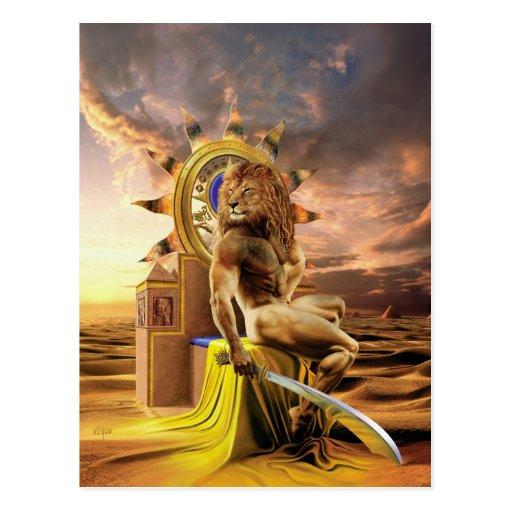 Lion - postcard