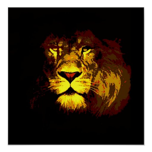 Lion Poster Print